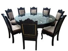 indian carved dining table. teak wood fine rajathani barmeri carved dining sets, set, round 8 seater indian table