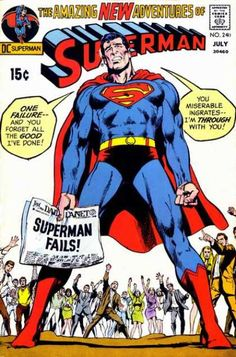July - Superman Fails - Red Cape - Red Boots - Yellow Belt - Neal Adams