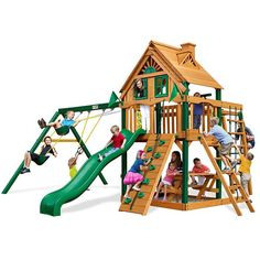 New for 2015 - Gorilla Playsets Navigator Treehouse | Totally Swing Sets