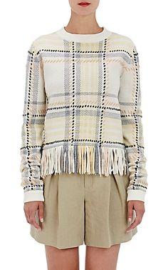 Chloé Fringe-Trimmed Sweater - Crewneck - Barneys.com