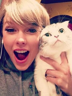 Music: Like Taylor Swift was going to let go by without a photo of Olivia Benson Baby Cats, Cats And Kittens, Cute Cats, Funny Cats, Funny Looking Cats, Celebrities With Cats, Celebs, Stupid Cat, National Cat Day