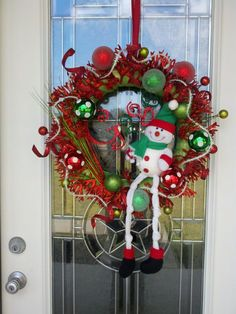 Chirstmas wreath For My Door Frames The Holidays