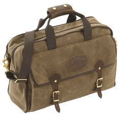 The Frost River Navigator, a made in USA cross between a briefcase and a piece of luggage. Handmade from waxed canvas, premium leather, solid brass.
