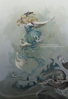 Swan Dance by DarkSunRose.deviantart.com on @DeviantArt