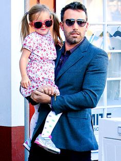 Ben Affleck & his little girl spend some QT together in their shades