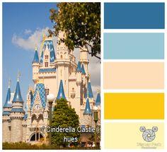 Disney Park Photography - Photo: Cinderella Castle Color Hues