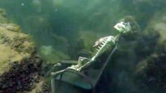 Umm... Authorities Find Fake Skeletons in Underwater Lawn Chairs #skeleton #prank #strange