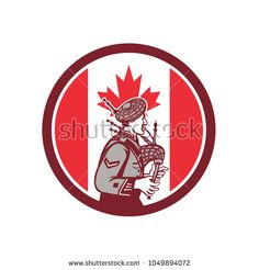 Canadian Bagpiper Canada Flag Icon by patrimonio on Icon retro style illustration of a Canadian bagpiper playing the bagpipes with Canada maple leaf flag set inside circle on isolated background. Canada Maple Leaf, Flag Icon, Retro Fashion, Retro Style, Retro Illustrations, Artwork, Musicians, Design