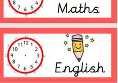 Amazing daily timetable visual display with editable clocks ! Fab idea for the classroom. The New School, New School Year, Primary Classroom Displays, Visual Timetable, Class Displays, Positive Behavior, Classroom Management, Teaching Resources, Clocks
