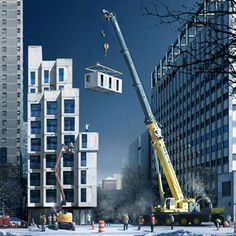 New York's first prefab micro apartments by nARCHITECTS to stack high after regulations waived