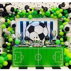 Sports Themed Birthday Party, Soccer Birthday Parties, Football Birthday, Soccer Party, Soccer Baby Showers, Soccer Birthday Cakes, Football Themes, Deco Table, Ballon