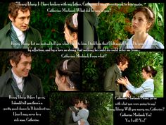 Northanger Abbey--I'm really not into romantic scenes, but I have to admit I loved this. :)