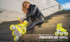 Hey Ladies, we've got something for you! Poweslide SWELL Yellow Flash 110. The brightest, designed to make your skating shine. Getting fit was never so fun as before!