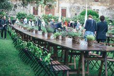 table layout Tuscan Wedding
