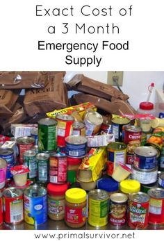 This Is Exactly How Much It Costs to Build a 3 Month Supply of Emergency Food when you are disaster planning. I've done all the math for you so you know exactly how much 3 months of Emergency Foods for disaster prepping costs. Best Emergency Food, Emergency Preparedness Food, Prepper Food, Emergency Food Storage, Emergency Food Supply, Emergency Preparation, Emergency Supplies, Survival Food, Survival Prepping