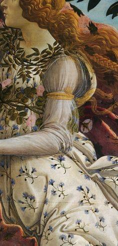 "tierradentro:  Detail from Botticelli's ""The Birth of Venus""."