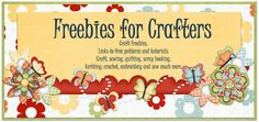 The name says it all!  Everything is free; tutorials and patterns for sewing, crochet, knitting, quilting, scrapbooking, etc.