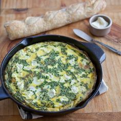 Fresh Herb, Potato, and Goat Cheese Frittata Recipe. This EASY oven ...
