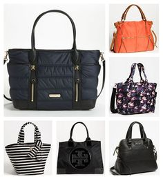 We love these chic diaper bags.