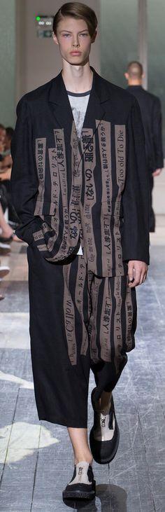 Yohji Yamamoto - Spring 2018