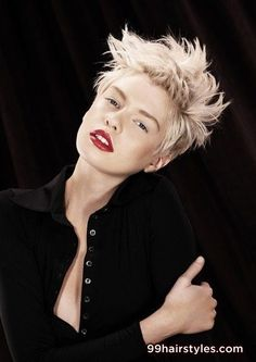 funky short blonde hairstyle idea - 99 Hairstyles Ideas