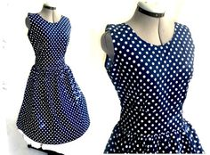Vintage style Navy almost black rockabilly 50's polka by piyuspret, $45.00