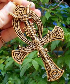 BIG EGYPTIAN ANKH CROSS LIFE ANUBIS HORUS EYE GOD EGYPT PHARAOH SPHINX PYRAMID  #JJ #CharmFashionCoolPendant