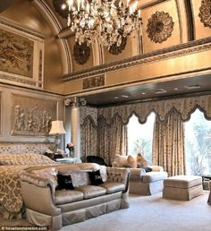 LOVE everything but pattern on bedspread n curtains *a Beyoncé home*