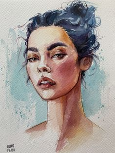 Fashion illustration watercolor face portraits 38 ideas for 2019 Watercolor Art Face, Watercolor Portraits, Watercolor Illustration, Watercolor Paintings, Simple Watercolor, Watercolor Trees, Tattoo Watercolor, Watercolor Landscape, Watercolor Animals