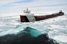 Sometimes, Mother Nature Wins. Slow start for Great Lakes freighters.