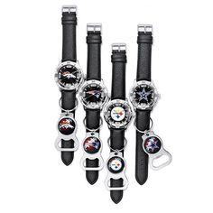 Men's NFL Watch Gift Set - $39.99. ATTENTION FOOTBALL FANATICS: This is the watch for you. Your favorite team is supported right on your wrist and it even comes with a matching bottle opener, perfect for game day! Buy Gifts for Him at https://agafford.avonrepresentative.com #watches #jewelry #NFL