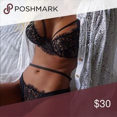 Sexy black lace bra and panty set New, never worn. Stunning black lace bra and panty set, size small. Thank you for visiting my closet, please let me know if you have any questions, I offer great discounts on bundles 💕 lucy6mahon Intimates & Sleepwear Bras