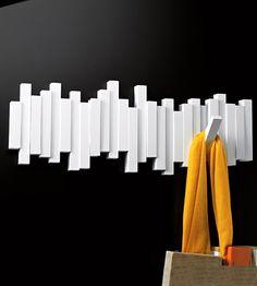 Настенная вешалка 'Sticks' - White