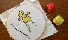 Desafio de desenho infantil bordado a mao para o Esdras