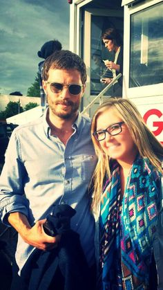 Jamie with a fan. | Jamie Dornan News