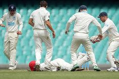 Phil Hughes Collapse on Ground After Strcuk Bouncer