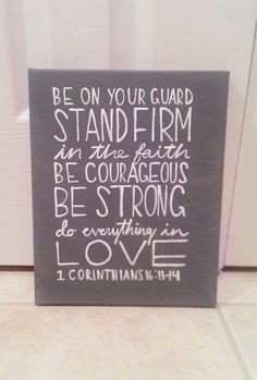 1st Corinthians Bible Verse Canvas Stand Firm In by QuotesOfNote, $18.00
