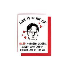 Dwight Schrute Anti-Love - The Office Card