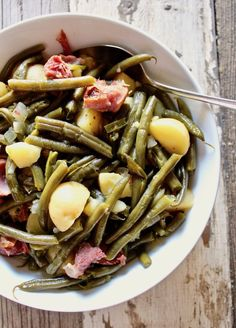 Country Green Beans, Potatoes and Ham in the Instant Pot Recipe