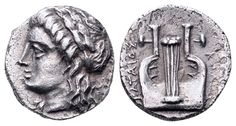 AR Hemidrachm. Greek, Ionia, Kolophon, Eklataios, magistrate. Circa 490-400 BC. 10mm, 1,60g, 2h. SNG von Aulock 2007 (drachm). EF. Price realized (2.7.2016): 101 EUR.