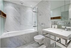 awesome Fresh Carrara Tile Bathroom