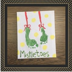 mistletoe footprint craft - Google Search