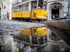 Beautifully reflective puddle photographs that capture Lisbon in perfect symmetry - via Creative Boom 11.02.2015   From architecture and city streets to archways and interesting corners, there's always something that will inspire the symmetry-obsessed creative. That's what photographer Daniel Antunes loves to do, but he cleverly captures glimpses of a world in perfect symmetry through the puddles of water that he discovers on his travels.