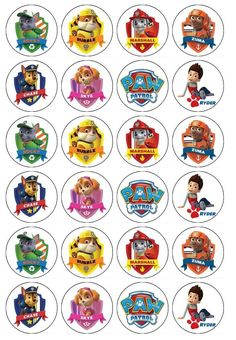 24 x Paw Patrol Edible Cupcake Toppers Pre-Cut in Home & Garden, Parties, Occasions, Cake | eBay