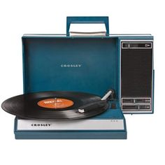 Crosley CR6016blu Spin #Turntable $146.00 Detailed Description very cool portable turntable, blue colored, USB enabled, 45/33/78 rpm, belt driven, diamond stylus, software to rip & edit Item No: 59723