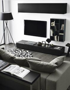 Find Out Modern Living Room Interior And Set Ideas Inspiringly Living Room Modern, Living Room Interior, Home Living Room, Apartment Living, Living Room Furniture, Living Room Designs, Living Room Decor, Minimal Living, Apartment Design