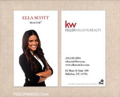 Keller williams real estate business cards thick color both sides kw realtor business cards thick color both sides by pixelsprinted cute business cards real estate accmission Images