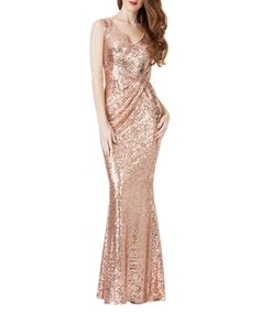 Champagne sequin dress