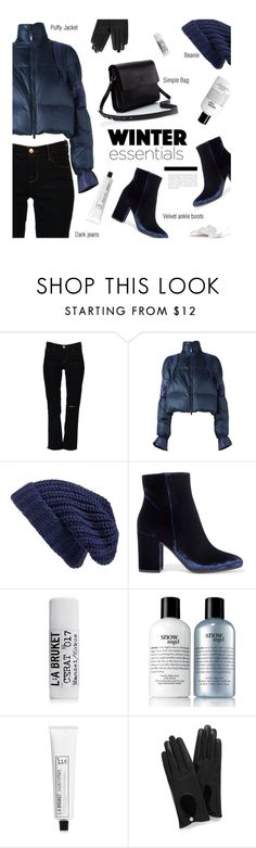"""Winter essentials"" by magdafunk ❤ liked on Polyvore featuring J Brand, Sacai, Hinge, Gianvito Rossi, L:A Bruket, philosophy and Mulberry"