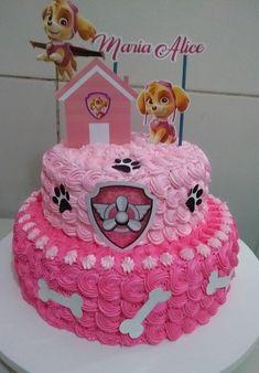 Girls Paw Patrol Cake, Skye Paw Patrol Cake, Girl Paw Patrol Party, Paw Patrol Birthday Girl, Paw Patrol Cupcakes, Toddler Birthday Themes, Birthday Cake Girls, Birthday Parties, 3rd Birthday